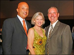 From left, Shawn Welch, Saga Shoffner, and Tony Caracciolo during the Marathon Classic Gala Tuesday at the SeaGate Centre.