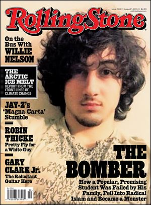 Boston Marathon bombing suspect Dzhokhar Tsarnaev appears on the cover of the Aug. 1, 2013 issue of 'Rolling Stone.'