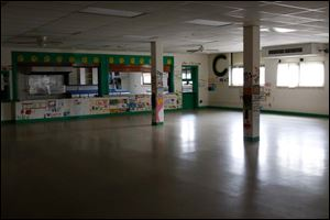 The cafeteria inside the shuttered Central Elementary School.