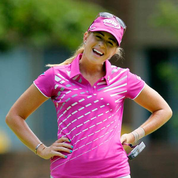Paula-Creamer-reacts-after-missing-a-birdie-putt-on-14