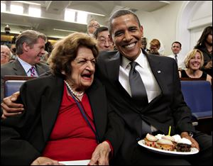 Helen Thomas, who shared an August 4 birthday with Barack Obama, has covered every president since John F. Kennedy.