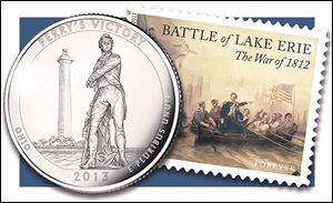 A new quarter and postage stamp honor the bicentennial of the Battle of Lake Erie.