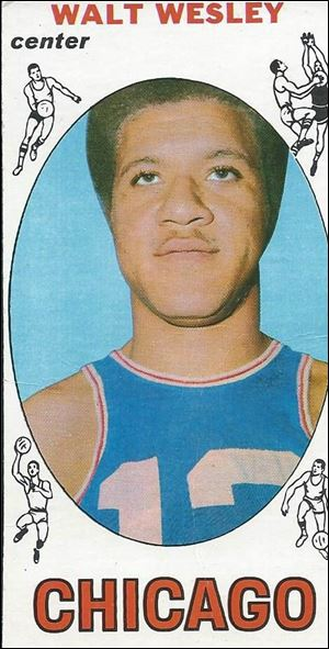 This 1970 Walt Wesley bubble-gum card started the Cleveland Cavaliers on the road to professional basketball.
