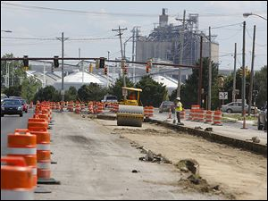 About three weeks of work remain on the $2.85 million Conant Street project in Maumee.