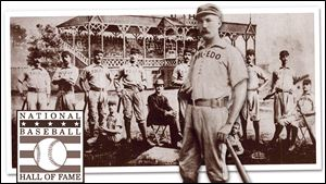 Hank O'Day played for the Toledo Blue Stockings in 1884. He is best known, however, for umpiring in 10 World Series.