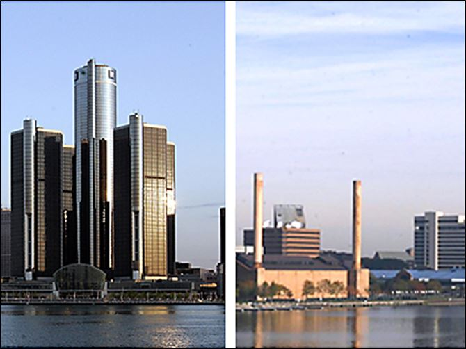 Detroit Toledo skylines Blight, poverty, unemployment, and municipal debt crippled Detroit, left. Toledo, often compared to the Motor City, took unpopular steps during trying times.