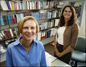 Susan Brown, left, and Wendy Manning are co-directors of the National Center for Family and Marriage Research at BGSU.
