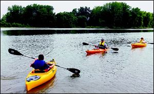 The Maritime Academy hosted a kayaking camp on the Maumee River in June.