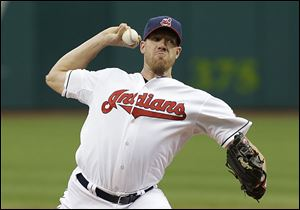 Indians starting pitcher Zach McAllister allowed two runs on five hits in seven innings.