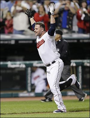 Cleveland's Jason Giambi led off the ninth inning with his ninth career walk-off home run.