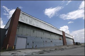 Part of the former Willow Run Bomber Plant is shown at Willow Run Airport in Ypsilanti Township, Mich.