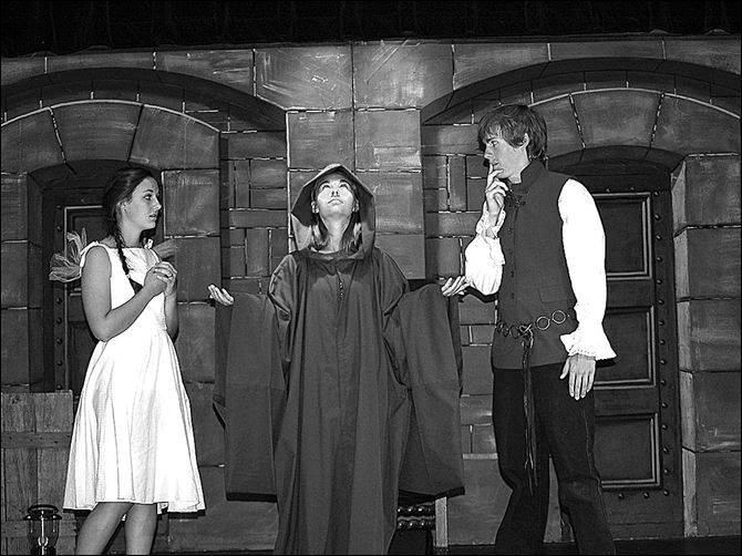 f5jasonargonauts.jpg Marie Weisenberger, Larissa Barman, and Solomon Carr perform a scene from 'Jason and the Argonauts.' Performances are set for this weekend in Pemberville.