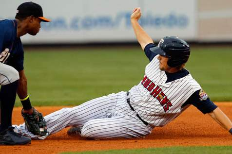 Toledo-Mud-Hens-Jordan-Lennerton-is-tagged-out-at-second