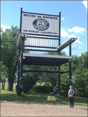 Because of liability issues, the World's Largest Rocker near Cuba, Mo., no longer rocks.