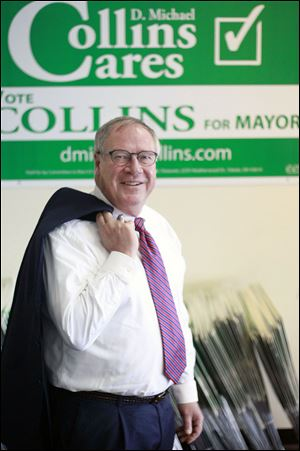 Mayoral candidate D. Michael Collins hopes to get support from the city's police and fire unions, most of which have not endorsed in the primary race.