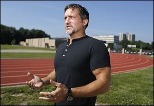 Former University of Toledo track and cross country coach Kevin Hadsell asked to meet at the school's track despite being forced to resign his position due to a texting scandal.