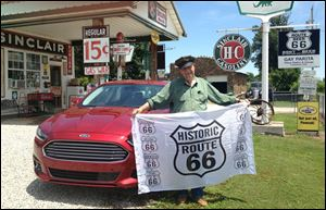 Gary Turner's re-created gas station near Ash Grove, Mo., is a tribute to the history of Route 66.
