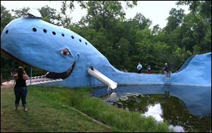 The Big Blue Whale near Catoosa, Okla., has been a hit with Route 66 travelers for more than four decades.