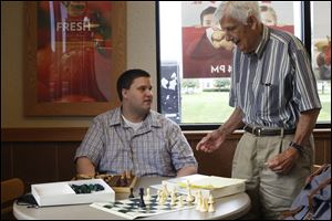 Bush, who is blind, began playing chess with Brewer when he was eight years old and still sighted.