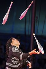Raul-Olivares-juggles-during-a-performance-The-tradit