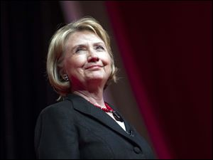 Former Secretary of State and former first lady Hillary Rodham Clinton.