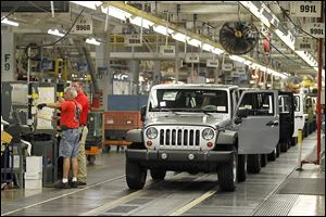 Jeep Wrangler models produced at Toledo Assembly complex in future years will have to be de­signed with new fed­eral Cor­po­rate Aver­age Fuel Econ­omy stan­dards firmly in mind.