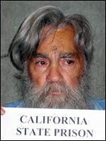 In this photo taken June, 2011 and provided by the California Department of Corrections, Charles Manson is seen in a mugshot from Corcoran State Prison.