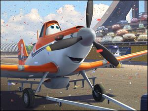 "This publicity image released by  Disney Enterprises, Inc. shows Dusty, voiced by Dane Cook, in a scene from the animated film, ""Planes."""