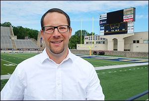 Adam Salon, former University of Toledo football director of operations, taught a three-week life-skills class to incoming freshman players this summer.