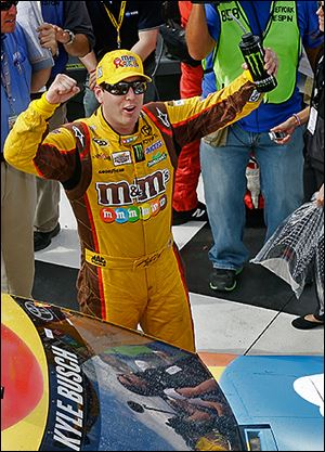 Kyle Busch won at Watkins Glen on Sunday after a disastrous race in 2012 that saw him lose the lead on the final lap.