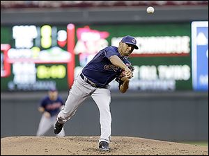 Indians pitcher Danny Salaza
