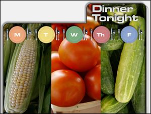 Dinner Tonight: Tomato, Corn, Cucumber Salad