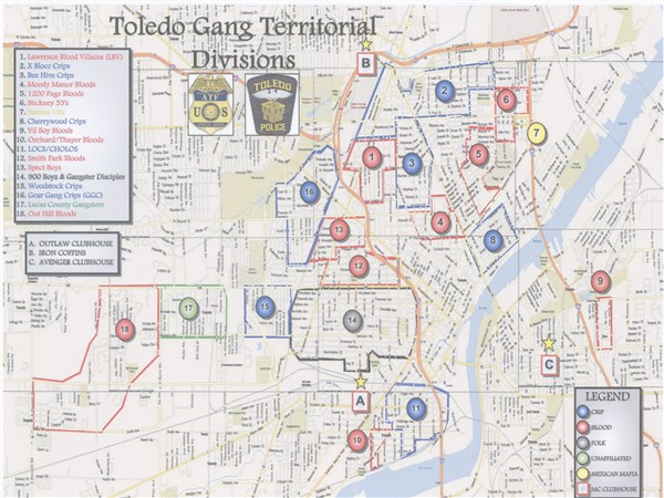 "The Blade obtains Toledo Police Department s ""Gang Territorial"