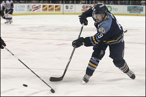 Randy Rowe, 33, ranks 14th all-time in ECHL history with 231 goals and 18th with 521 points.