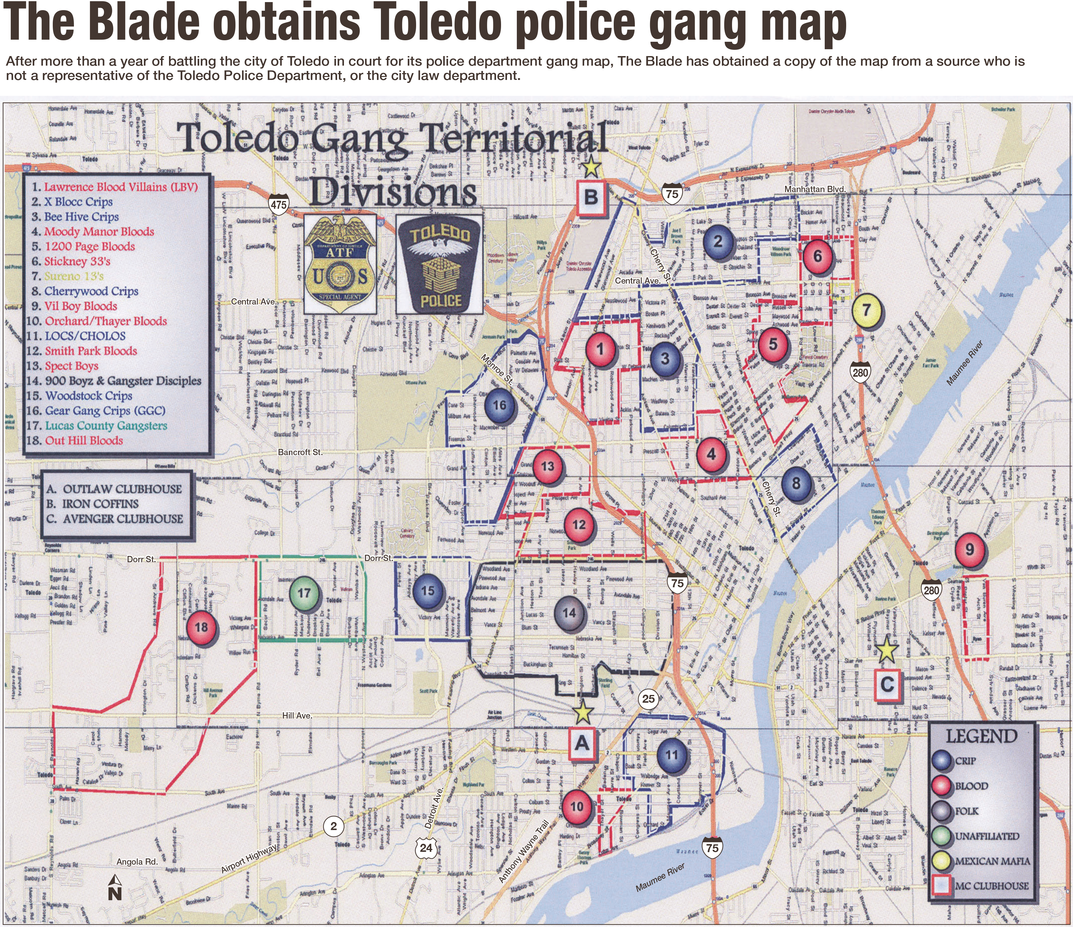 Blade obtains Toledos map of gang territories The Blade