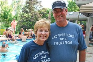 Diane and Dan Kazmierczak hosted a float party on the Maumee River.