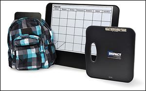 Impact Armor Technologies says its bulletproof items for students and teachers, such as a backpack insert and desktop calendar, can stop   a bullet from a 9mm to a 44-caliber Magnum.