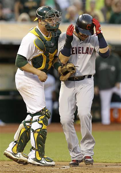 Indians-Athletics-Baseball-Nick-Swisher