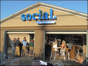 Social in Perrysburg opened Tuesday with great weather and a great crowd.