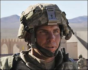 Staff Sgt. Robert Bales participates in an exercise at the National Training Center at Fort Irwin, Calif. L