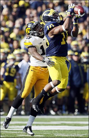 Michigan wide receiver Jeremy Gallon caught 49 passe