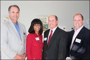 Paul Devers, Andrea Price Mercy Regional President and CEO, Chuck Gallagher, President of the Mercy Board of Trustees, Dr. Greg Kasper, Chairman of A Night to Remember and Chief of Staff of Mercy St. Vincent Medical Center