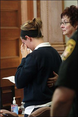 Sydney Yeager gives her victim statement during the sentencing of Matthew Gonzalez.