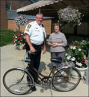 Toledo police Sgt. Pete Lavey, told of an abandoned bicycle in Ottawa Creek, immediately recognized the bike as belonging to 74-year-old Norma Johnson.