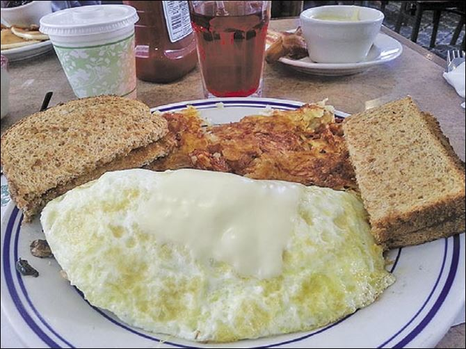 rgc1.jpg Smothered chicken omelet.