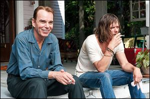 Billy Bob Thornton, left, and Kevin Bacon in a scene from 'Jayne Mansfield's Car.'