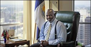Mayor Mike Bell, in his office at The Government Center, says he believes he has done a good job as Toledo's mayor, adding that he would step aside if somebody could do the job better.