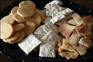 Different home made crackers.
