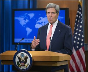 Secretary of State John Kerry said chemical weapons were used in Syria, and accused Assad of destroying evidence.