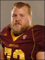 Cody Pettit, an offensive lineman at Central Michigan and a Patrick Henry graduate.